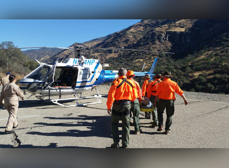 Injured Hiker Rescued