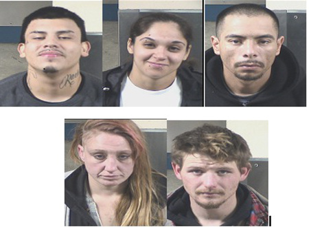 Five People Arrested, Two Stolen Cars Recovered